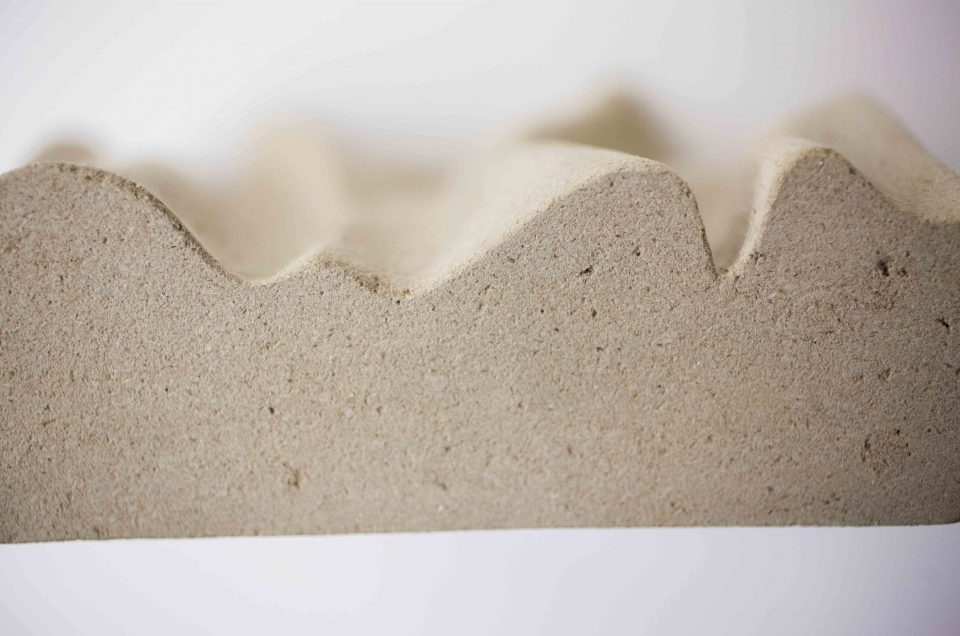 Casted Wood - Experiments with wood dust and nano cellulose